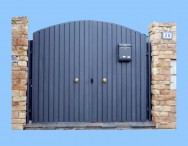 Puerta garaje modelo CURVA