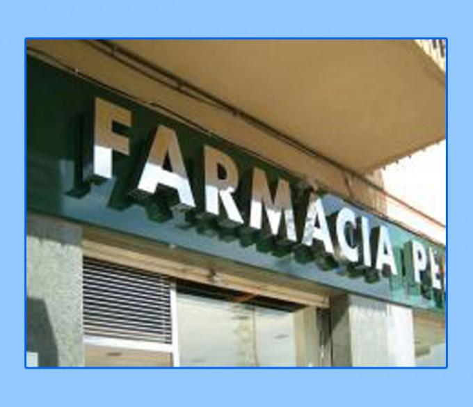 Rótulo modelo FARMACIA